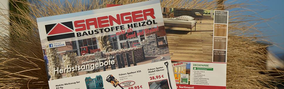 Saenger_Baustoffe_Flyer_Herbst2014